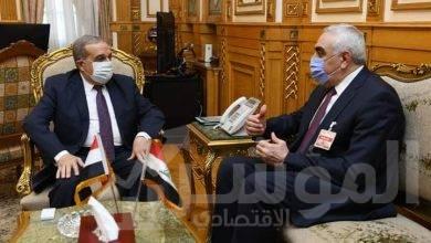 """صورة """"مرسى"""" يبحث مع سفير """"العراق""""مجالات التعاون"""