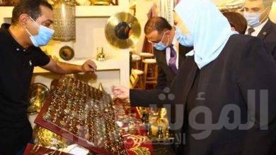 """صورة """"القباج"""" تزور الإسكندرية وتفتتح معرض ديارنا"""