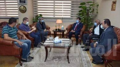 """صورة """"صبحى"""" يجتمع مع اللجنة الطبية لبطولة العالم لكرة اليد"""