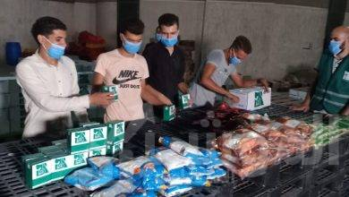 """صورة """"شباب مصر"""" يشاركون في تجهيز مواد الإغاثة المقدمة للشعب اللبناني"""