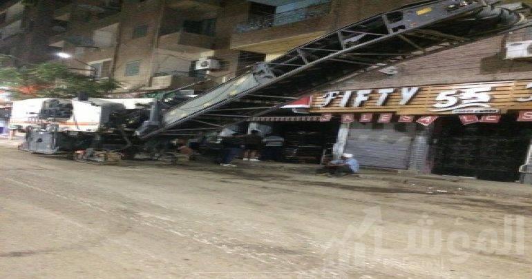 أسيوط تستكمل أعمال رصف وتطوير الشوارع الرئيسية