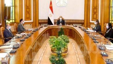 اجتماع الرئيس السيسي مع رئيس الوزراء ووزيرة الصناعة