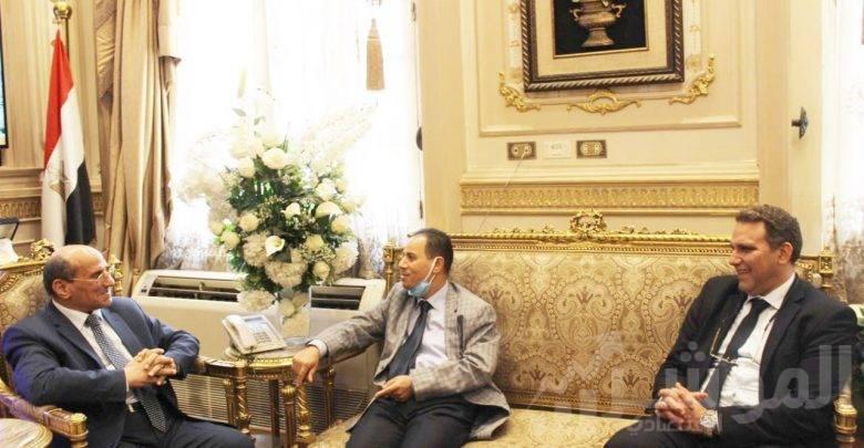زيارة رئيس مجلس القضاء الاعلى و رئيس محكمة النقض المصرية القاضي عبد الله عمر