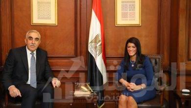 صورة المشاط و سفير العراق اتفقا: انعقاد اللجنة العليا المشتركة