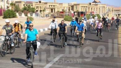 صورة ماراثون للدراجات تنظمة وزارة السياحة والآثار بمدينة شرم الشيخ