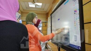 صورة جامعة القاهرة تدرب أعضاء هيئة التدريس على استخدام الشاشات التفاعلية
