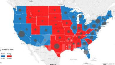 صورة بلومبرج :  حالة عدم اليقين حول الانتخابات الأمريكية وحزم التحفيز المالي الأمريكي أثرت بالسلب على معنويات السوق