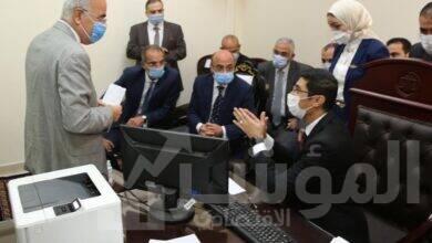 صورة وزيرا العدل والاتصالات يشهدان اطلاق نظام تجديد الحبس الاحتياطي عن بعد