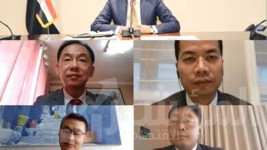 صورة وزير الاتصالات يلتقى وفد شركة هواوى العالمية