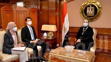 صورة وزيرة التجارة والصناعة تبحث مع سفير كوريا الجنوبية بالقاهرة مستقبل العلاقات الاقتصادية بين البلدين