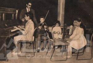تدريبات الموسيقى بنادي البنك الأهلي المصري في- 1964