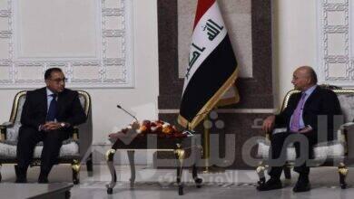 """صورة برهم صالح : أشيد بالدعم المصرى القوى والمستمر للعراق .. و """" السيسى """" صديق عزيز علينا شعباً وقيادة"""