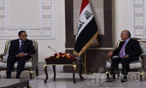 رئيس الوزراء خلال لقاءه الرئيس العراقى