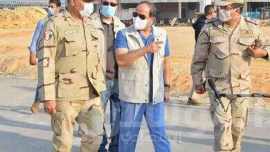 """صورة الرئيس """" السيسي """" يتفقد بعد ظهر اليوم """"مدينة مصر الدولية للالعاب الاوليمبية بالعاصمة الادارية الجديدة"""""""