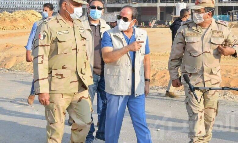 """"""" السيس"""" يتفقد مدينة مصر الدولية للالعاب الاوليمبية"""