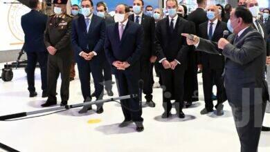 """صورة الرئيس السيسي يزور جناح """"إي فاينانس"""" ويطلع على إسهاماتها في مسيرة التحول الرقمي بمصر خلالCairo ICT 2020"""