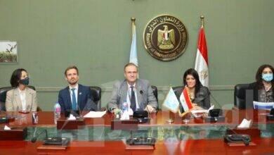 صورة المشاط والمنسق المقيم للأمم المتحدة يترأسان الاجتماع الدوري للجنة التسيير الخاصة بالإطار الاستراتيجي للشراكة