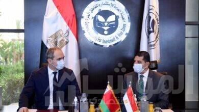 """صورة رئيس """"هيئة الاستثمار"""" يبحث مع السفير البيلاروسي بالقاهرة جذب مزيد من الاستثمارات"""
