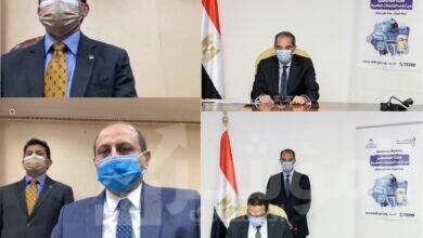 """صورة """" طلعت """" و """" صبحي """"  يشهدان عبر تقنية الفيديوكونفرنس توقيع بروتوكول تعاون بشأن تنفيذ أنشطة مبادرة بُناة مصر الرقمية"""