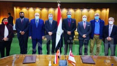 """صورة وزير قطاع الأعمال العام يشهد توقيع مذكرة تفاهم بين """"القابضة للغزل والنسيج"""" و""""أولام – مصر"""""""