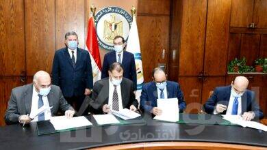 صورة توقيع بروتوكولات لتسوية المديونيات التاريخية لشركات قطاع الأعمال العام  لصالح البترول والكهرباء بقيمة 13.5 مليار جنيه