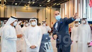 """صورة في جيتكس: حمدان بن محمد يتلقّى تحيات مشاركين من 150 دولة عبر """"Avaya Spaces"""""""