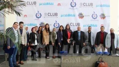 صورة افتتاح نادي ريادة الأعمال بالجامعة المصرية الصينية