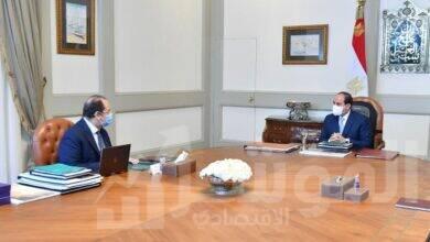 صورة السيسي يستعرض مع رئيس المخابرات التطورات الحالية على المستويين الإقليمي والدولي و ملفات الأمن القومي المصري
