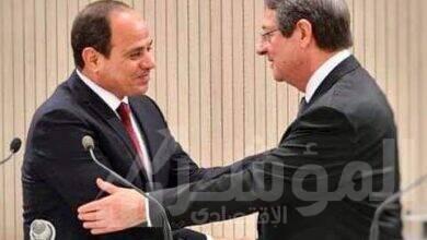 """صورة """" السيسي"""" يتشاور هاتفياً مع الرئيس القبرصى بشأن العلاقات الثنائية والقضايا الاقليمية في شرق المتوسط"""