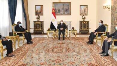 """صورة """" السيسي """" يستعرض عدداً من موضوعات التعاون الثنائي بين مصر وغانا في مجالي التجارة والاستثمار"""