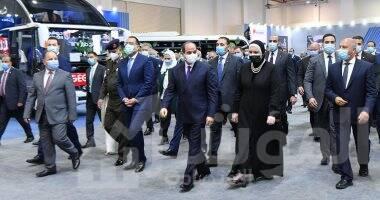 صورة الرئيس السيسي يفتتح معرض تكنولوجيا تحويل المركبات للعمل بالطاقة النظيفة