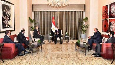 """صورة """" السيسي """" يبجث مع رئيس الوزراء الاردني العلاقات بين البلدين و التأكيد على تعزيز الجوانب الاقتصادية وزيادة التبادل التجارى"""
