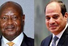 """صورة """" السيسي """"  يهنيء الرئيس الاوغندى يورى موسیفینی بفوزه بولاية جديدة في الانتخابات الرئاسية"""