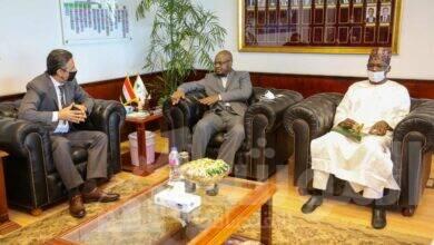 صورة رئيس البريد  يستقبل وزير الاتصالات والاقتصاد الرقمي النيجيري