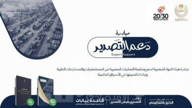 """صورة الدواء :إطلاق مبادرة """"دعم التصدير"""" لدعم الصادرات المصرية من المستحضرات والمستلزمات الطبية"""