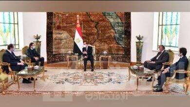 صورة الرئيس السيسي يستقبل سعد الحريري المكلف برئاسة الحكومة اللبنانية