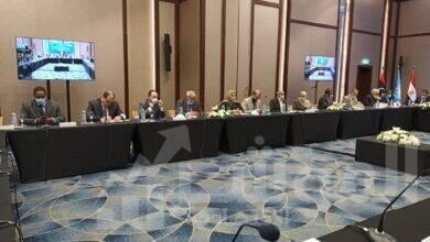 صورة بدء الجلسة الافتتاحية للاجتماع الثالث للمسار الدستورى الليبى فى مدينة الغردقة