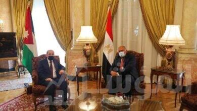 صورة وزير الخارجية يستقبل نظيره الأردني