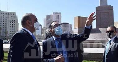 صورة رئيسا الوزراء المصري والأردني يتفقدان أعمال تطوير ميدان التحرير