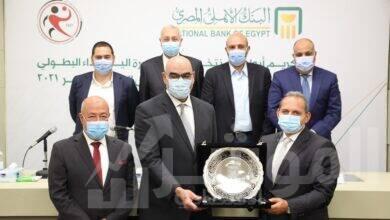 صورة تكريم خاص من البنك الاهلي المصري …الراعي الاستراتيجي لمنتخب مصر لكرة اليد