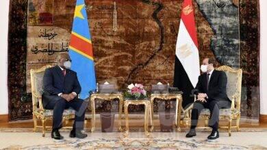 """صورة """" السيسي """"  يشيد بمجمل العلاقات مع الكونغو الديمقراطية على الأصعدة السياسية والاقتصادية والأمنية والثقافية"""