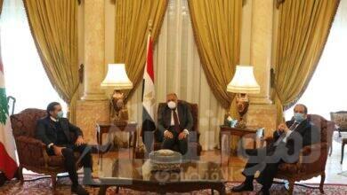 صورة وزير الخارجية ورئيس المخابرات العامة يلتقيان رئيس الوزراء اللبناني المُكلف