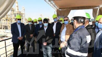 """صورة """"الملا"""" يتفقد مشروع توسعات مصفاة شركة ميدور بالإسكندرية"""