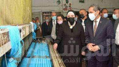 صورة وزيرة التجارة ومحافظ الغربية يتفقدان المجمع الصناعي بالمحلة الكبرى