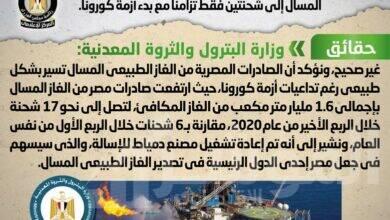 صورة تعرف على حقيقة تراجع عدد الشحنات المصرية المُصدرة من الغاز الطبيعي المسال