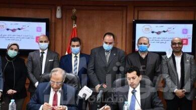 """صورة """"صبحى"""" يوقع بروتوكول تعاون مع وكالة الفضاء المصرية"""