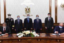 """صورة """"مدبولى"""" يشهد مراسم توقيع اتفاقية تعاون لبدء دراسات إنتاج """"الهيدروجين الأخضر"""" لتوليد الطاقة مع شركة """"ديمي"""" البلجيكية"""