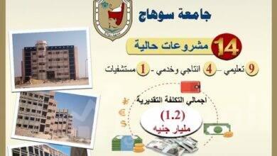 """صورة """"عبد الغفار"""" يستعرض تقريرًا ميدانيًا لمتابعة مشروعات جامعة سوهاج"""