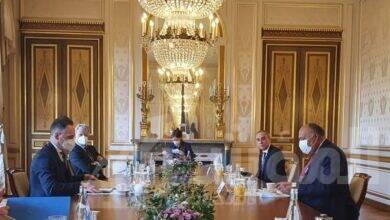 صورة وزير الخارجية يلتقي نظيره الألماني خلال زيارته الحالية إلى باريس