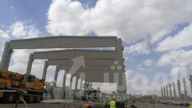 """صورة """"قطاع الأعمال"""": بدء تركيب الهيكل الخرساني الرئيسي لأكبر مصنع غزل في العالم بالمحلة*"""